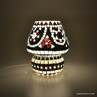 Gifts & Decor Mosaic Glass Table Lamp