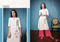 Ladies Designer Rayon Kurtis