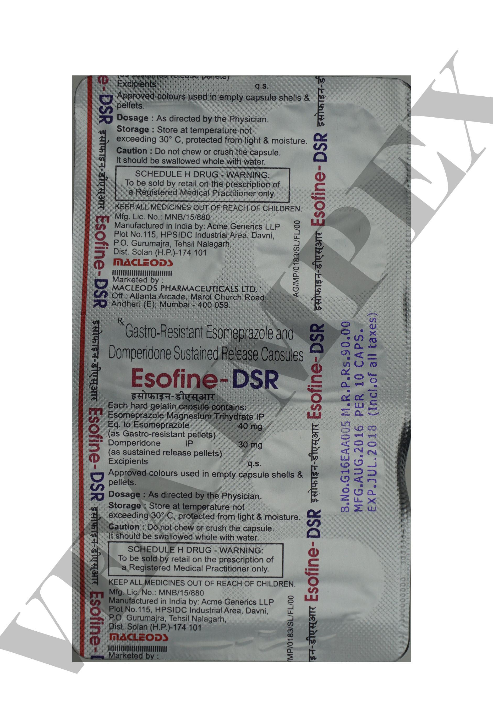 Esofine DSR Capsules