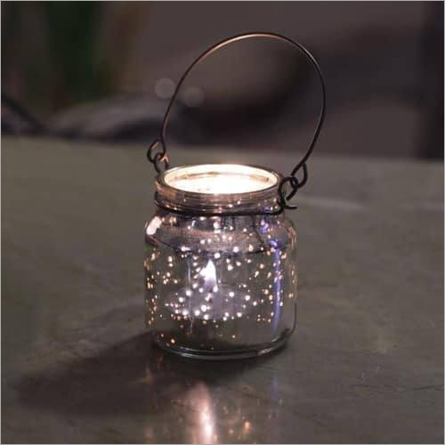 Decorative Grey Tea Light Holder