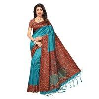 Mysore silk printed saree
