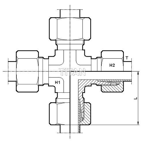 Single Ferrule - Ermeto Type Hydraulic Tube Fittin