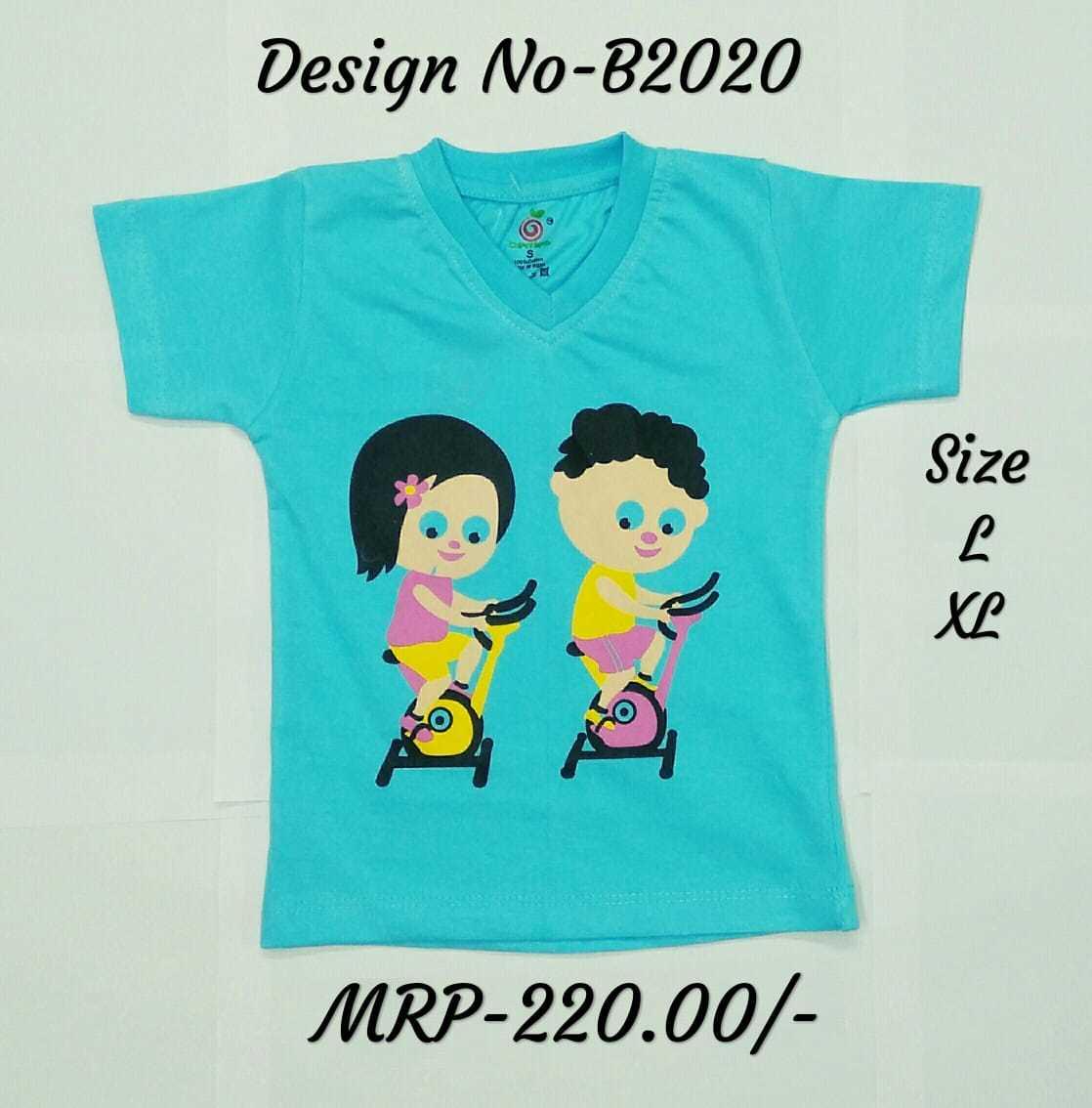 ebe2f156 Kids Boy Girl Design Print T Shirts L Blue Pink Yellow V Neck