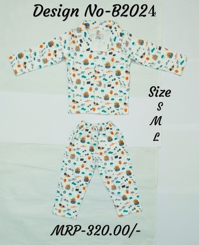 Kids Night Suit (Upper+Lower)