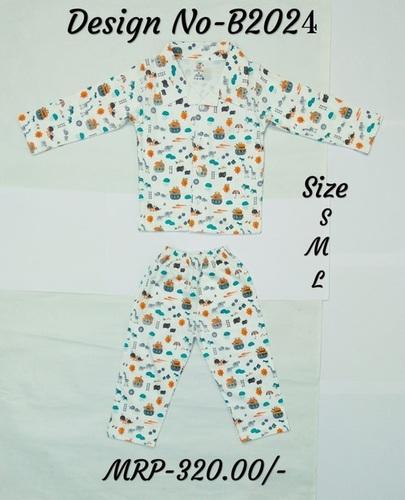 Kids Night Suit - Snail/Bee Print - 3 colours