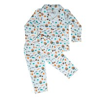 Kids Night Suit - Snail/Bee Print - 3 colours