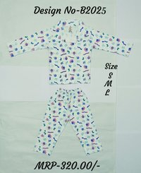 Kids Night Suit - Animal Print - 3 colours