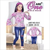 Girls Designer Pent Top