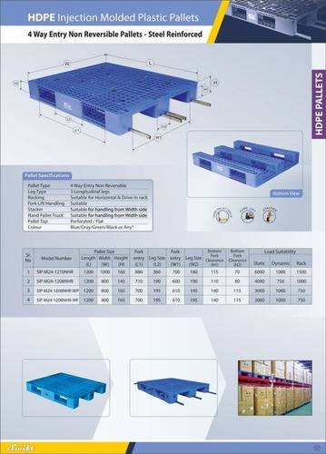 4 Way Entry Non Reversible Pallets-Steel Reinforced