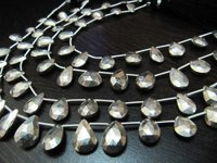 Very Goood Quality Natural Silver Pyrite Pear Shape Beads