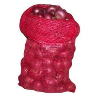 Maroon Plastic Leno Vegetable Bags