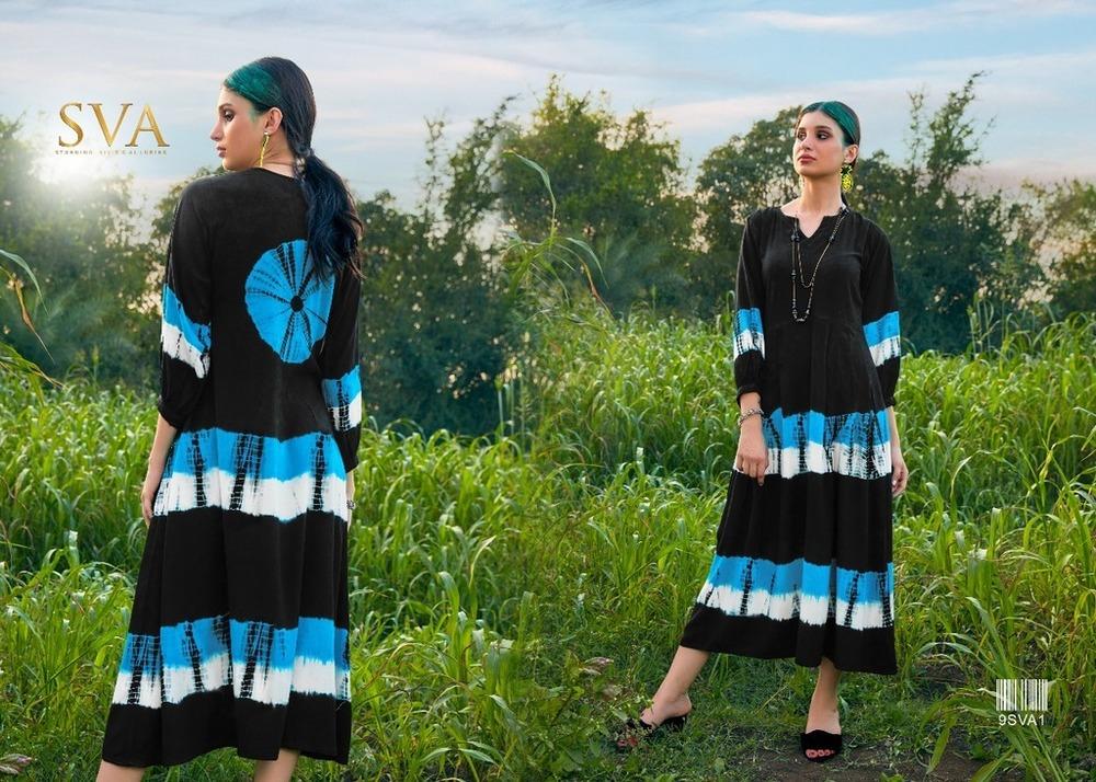Designer Rayon Printed Kurtis