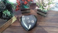 Heart Keepsake Pet Urn / Brass Pet Urn / Pet Cremation Urn
