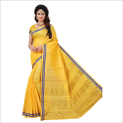 Fancy Strips Printed Silk Saree