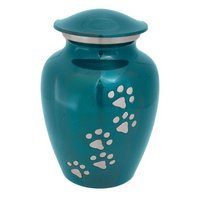 Black Pet Urn With Golden Paws