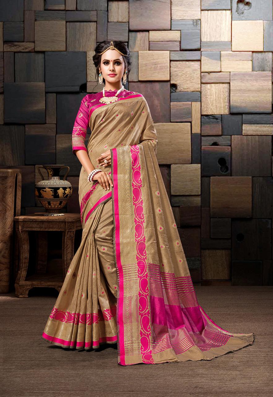 Latest Cotton Silk Weaving Saree