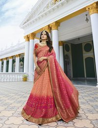 Ethical Wedding Raw Silk Lehenga