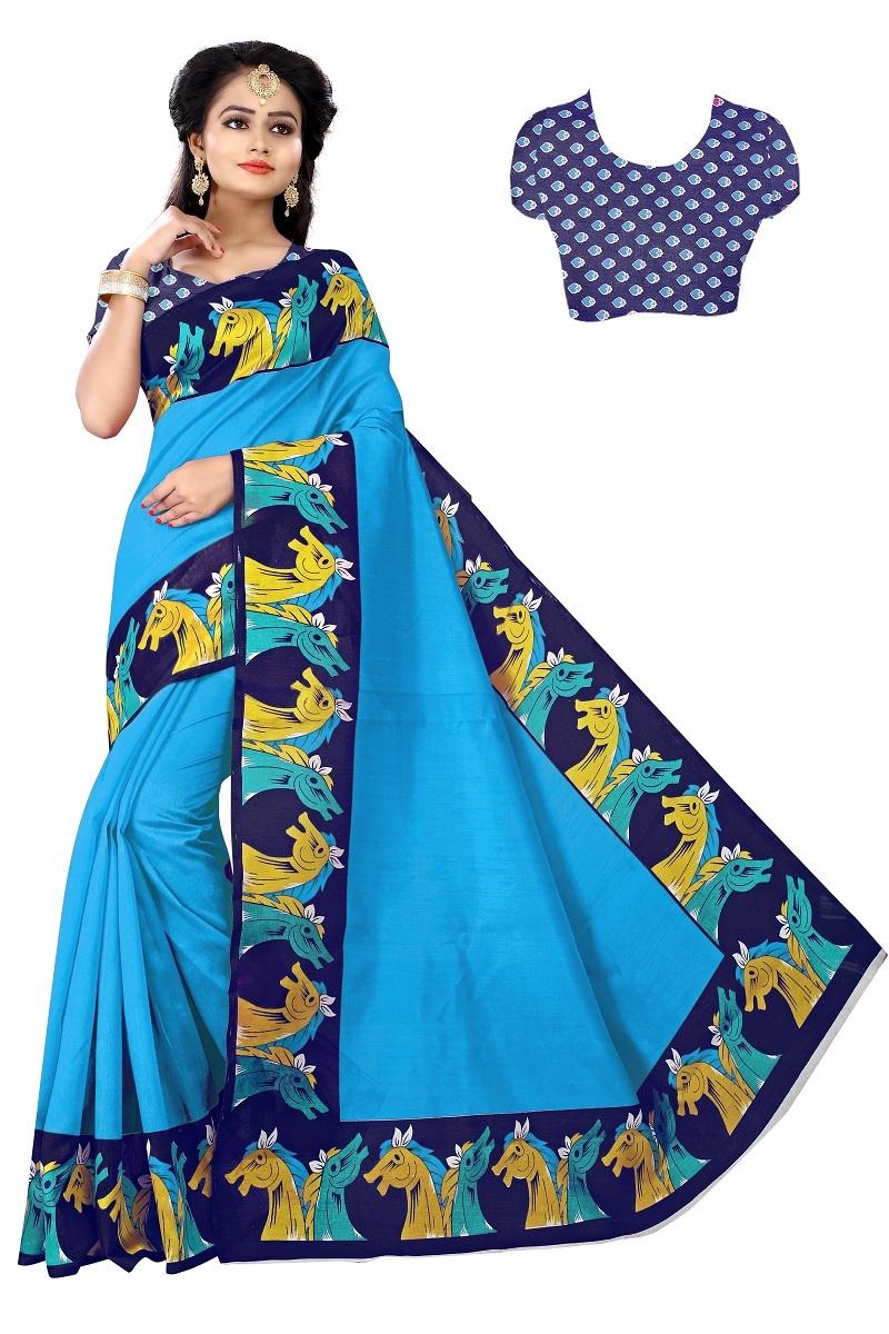 New Silk Saree with Broad Border