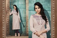 Latest Ruby Silk Long Kurtis