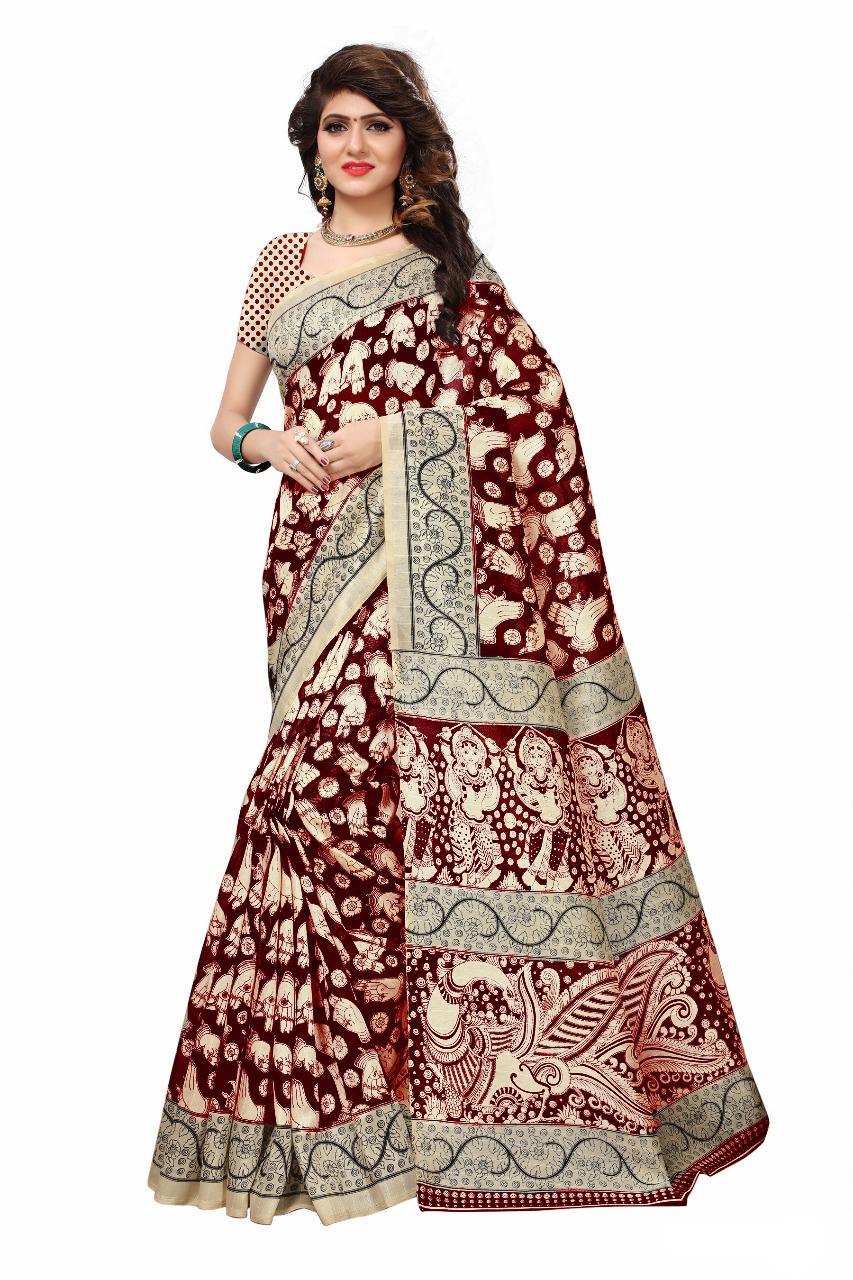 Attractive Designer Bhagalpuri Printed Saree