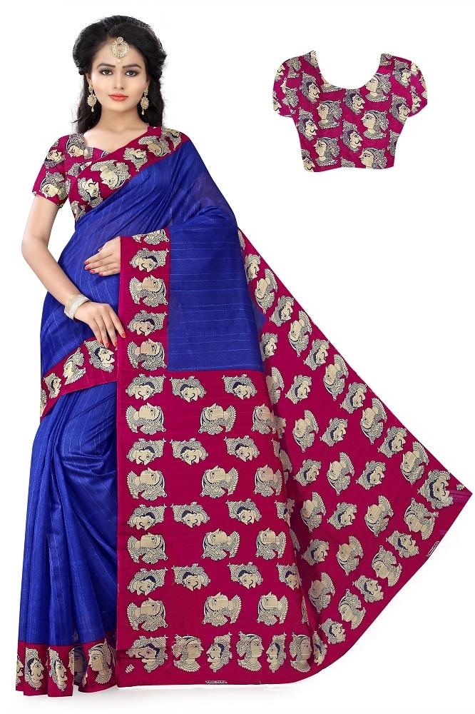 Bhagalpuri Saree with Heavy Printed Pallu