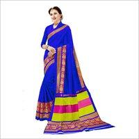 Bhagalpuri Printed Art Saree with Lace