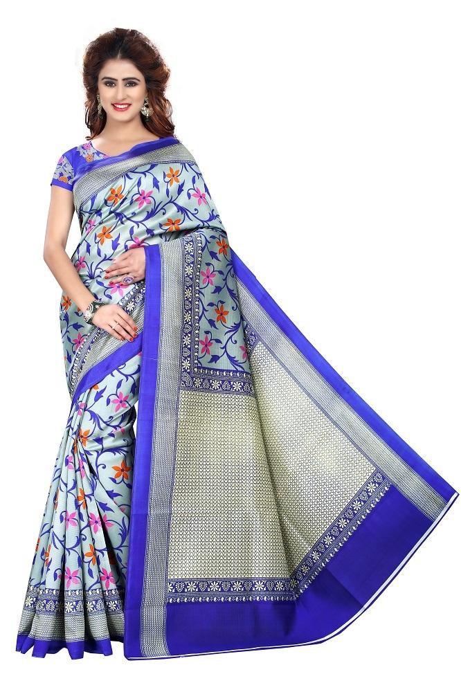 Fancy Print Bhagalpuri Art Silk Saree