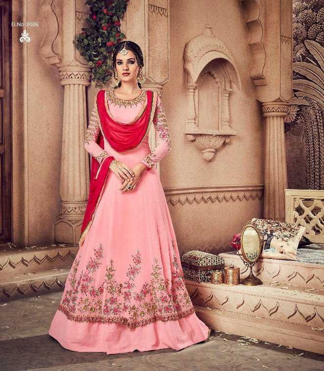 Partywear Embroidered Georgette Salwar Suit