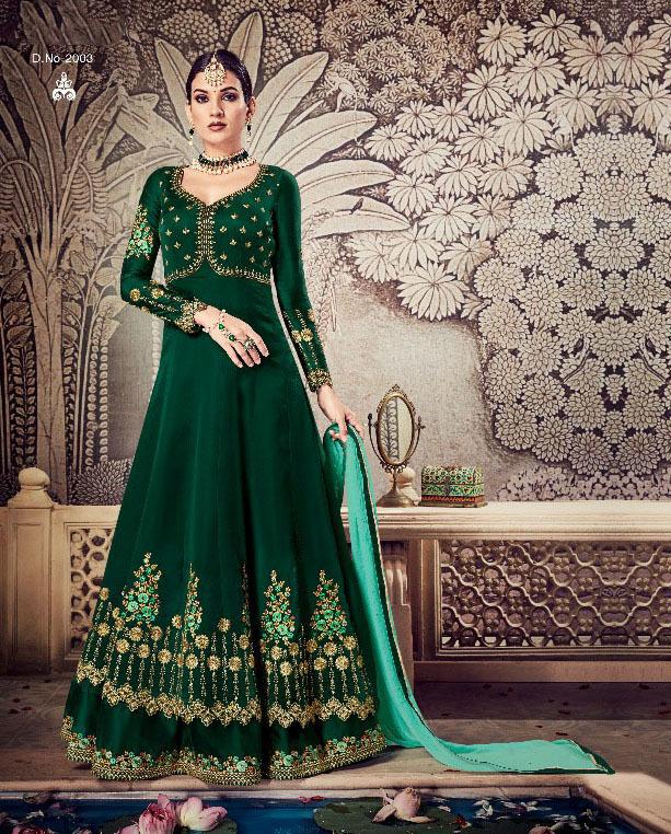 Partywear Embroidered Georgette Salwar Suit