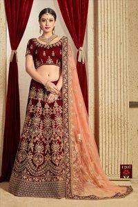 Wedding And Partywear Velvet Lehengas