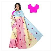 Silky Embroidery Saree