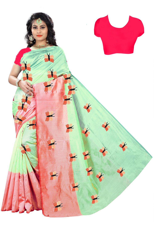 Attractive Design Silk Embroided Saree