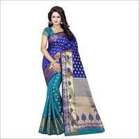 Printed Banarasi Silk Saree