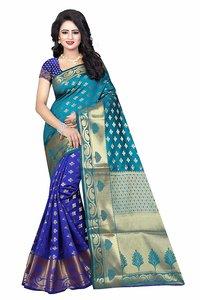 Fancy Printed Banarasi Silk Saree