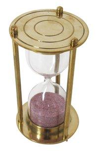 Antique Nautical Maritime Brass Sand Hourglass