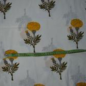Hand Block Cotton Jaipuri Floral Print Fabric