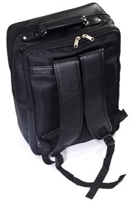 Leatherette Expandable Laptop Bag