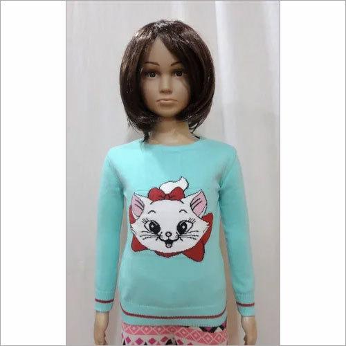 Intarsia Girl Kids  Sweater