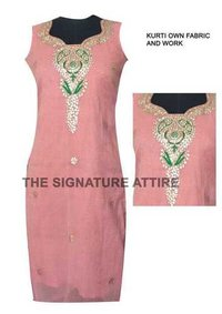 Cotton Kurti With Attached Koti