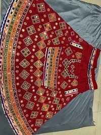 Traditional Chaniya Choli With Mirror Work and Embroidery work(DNHCHT2)