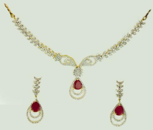 Ruby Oval Necklace Set