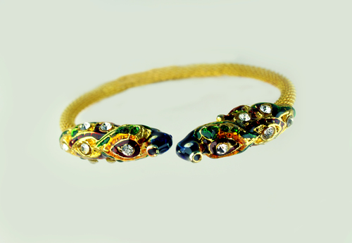 Peacock Drop Bracelate