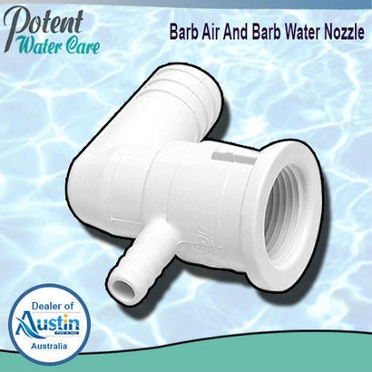 White Barb Air And Water Nozzle