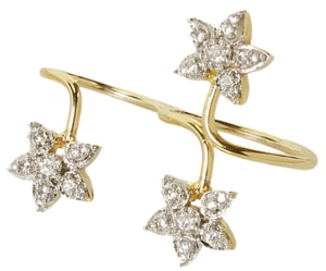 Floral Creeper Double Ring