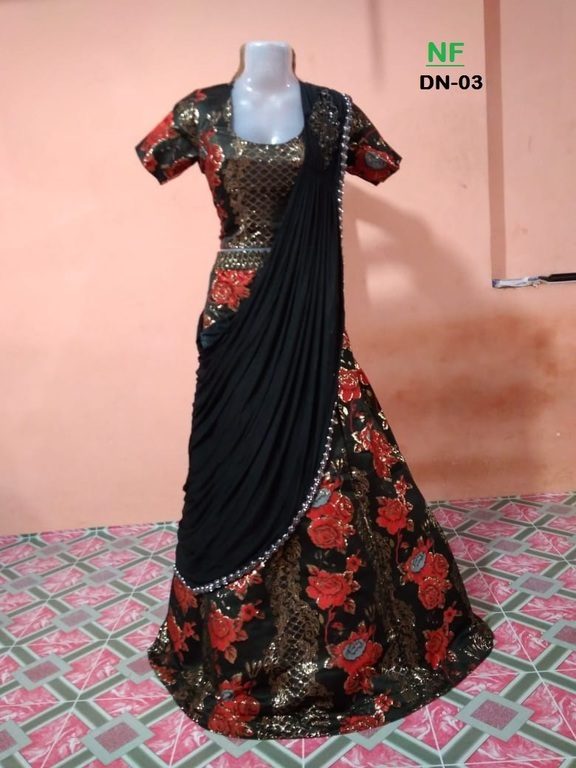 Silk Printed Lehenga Choli