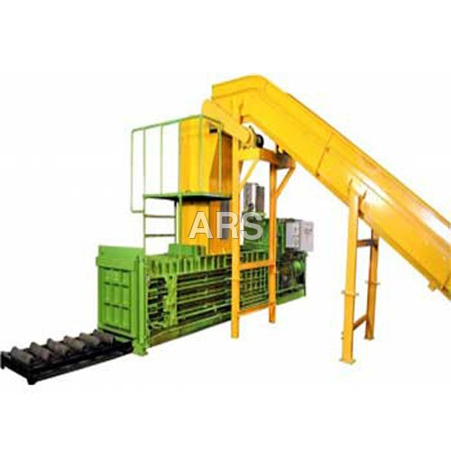 Horizontal Corrugated Scrap Baler