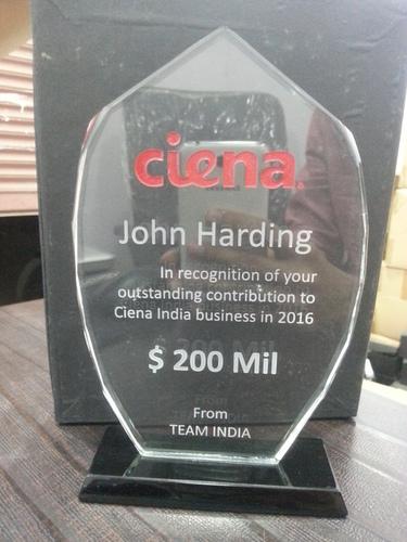 Customized Glass Trophy