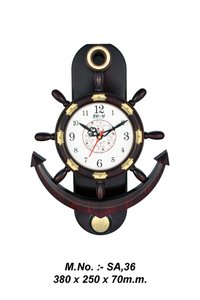 Antique Anchor Wall Clock