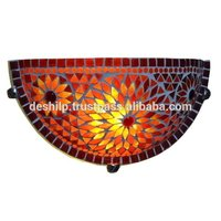 GLASS MOSAIC WALL UP-LIGHTER , WALL SCONES , INTERIOR WALL LAMPS , GLASS LIGHTING , ANTIQUE WALL LAMPS,WALL LAMPS