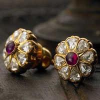 Diamond Kundan Polki Ring